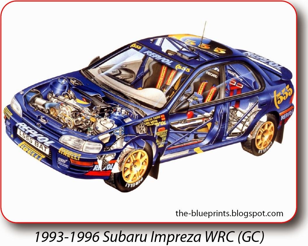 Elegant 1993 1996 Subaru Impreza WRC (GC)